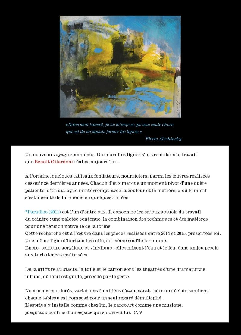BENOIT GILARDONI PRESENTATION PEINTURES-2015