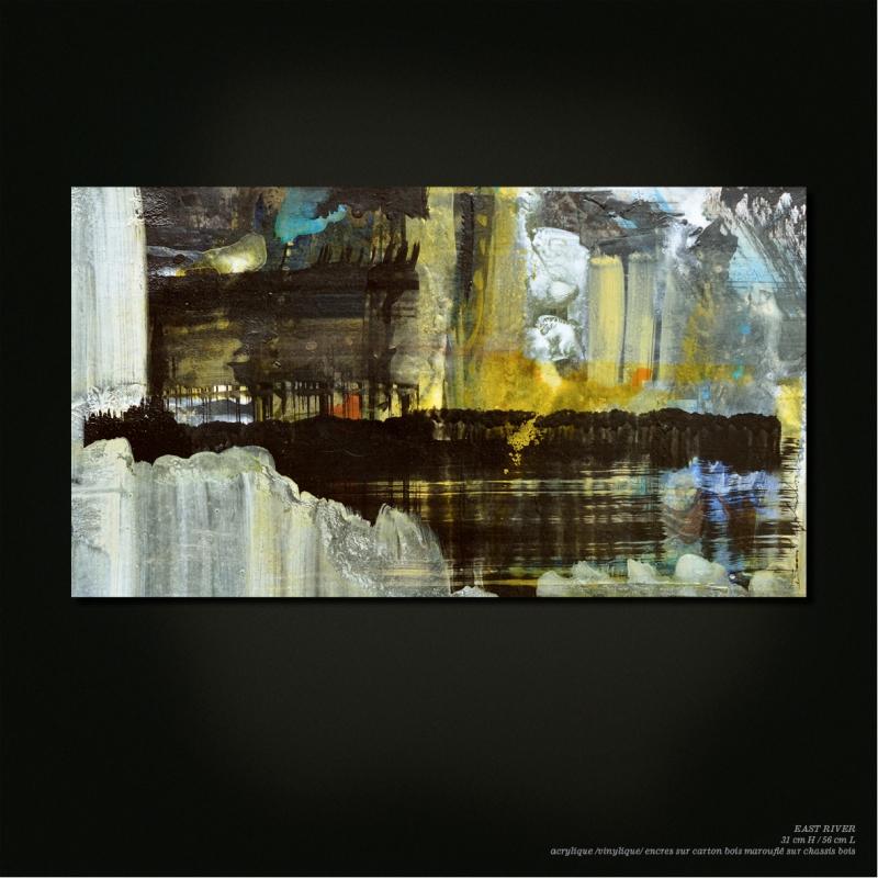 """EAST RIVER"" 31 cm H / 56 cm L • Benoit gilardoni"