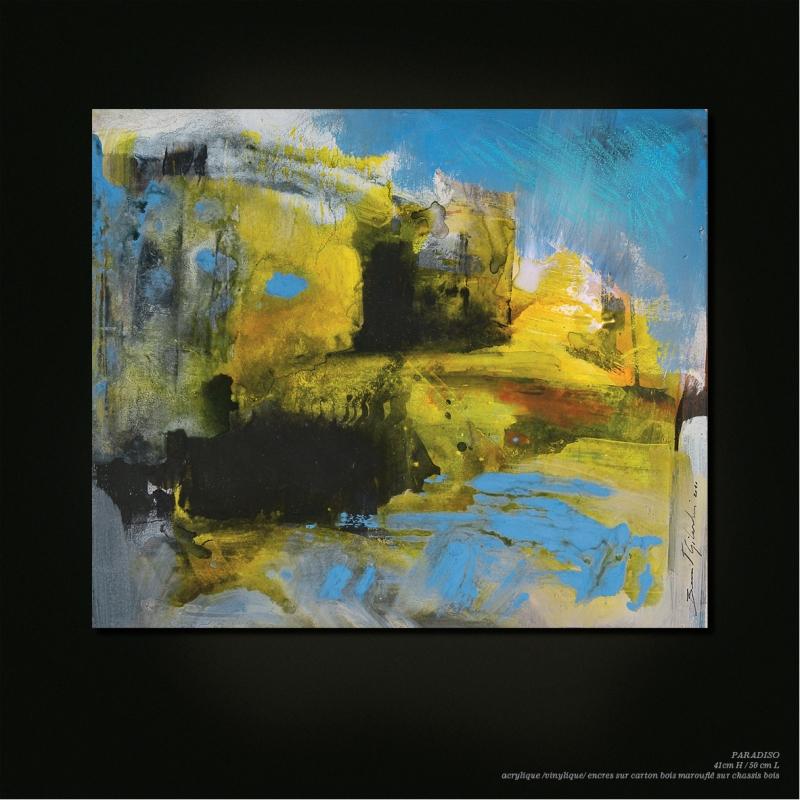 Paradiso- benoit gilardoni - painting